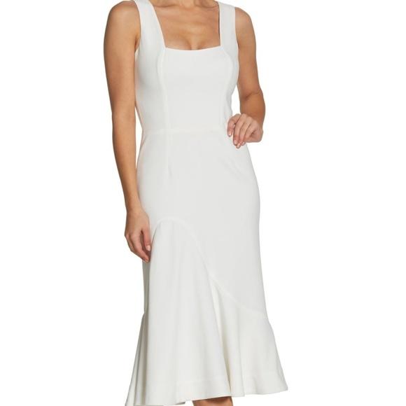 62e7095759a4 Dress the Population Dresses | Ivory Monica Tea Length Midi | Poshmark